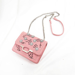 Velvet embroidery craft flower decoration shoulder bag