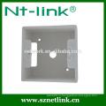 Высококачественная двухсторонняя лицевая панель rj45 с нижним ящиком, подходящая для гнезда модуля трапецеидального искажения rj45