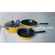 Комплект кухонной посуды 4PCS из углеродистой стали с антипригарным покрытием