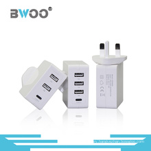 Portable Multi-Function Charger for UK/EU/Us Plugs