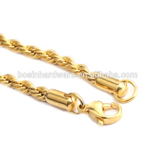 Fashion High Quality Metal Gold Rope Chain Necklace