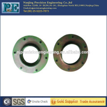 Custom made steel alloy mounting spacer washer with holes