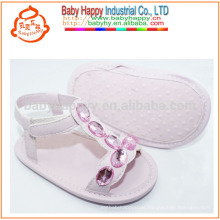 Italy rhinestone flat sandal cute baby walking shoes
