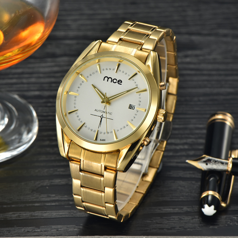 custom create your own brand golden mechanical watch