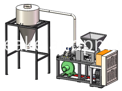 Plastic film squeezing equipment