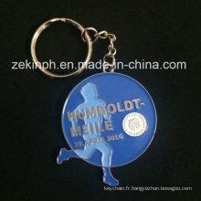 Porte-clés en métal fait sur commande de caractère promotionnel