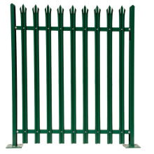 garden wrought iron steel galvanized palisade metal fence