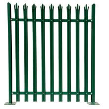 Nuevo diseño valla de acero tubular valla de empalizada de aluminio