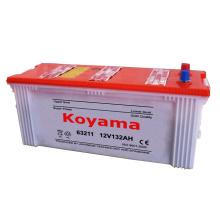 Batterie au plomb de cellule sèche de batterie de véhicule DIN 63211 12V 132 Ah