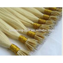 Vente chaude!!! Nano anneaux de cheveux extensions 100% cheveux humains brésiliens cheveux brésiliens avec le meilleur prix