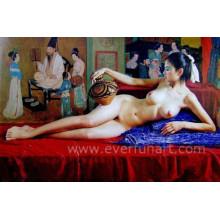 Pintura al óleo desnuda hecha a mano del 100% para la decoración casera