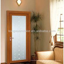 Porte en aluminium en fibre de verre, porte intérieure ou extérieure