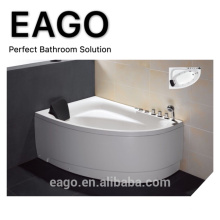 EAGO AM162 high quality acrylic Corner Hydro massage Bathtub