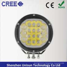 """12V / 24V 7 """"Round 90W CREE LED 4X4 Spotlight pour hors route"""
