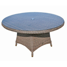 Garden Round Wicker Outdoor Rattan Dining Patio Table