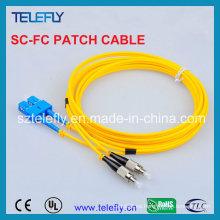 SC-FC Cable de comunicación de un solo modo