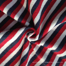 Hemp / algodón hilo teñido de rayas coloridas jersey