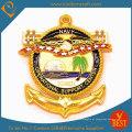 Moeda antiga da lembrança do logotipo 3D da marinha