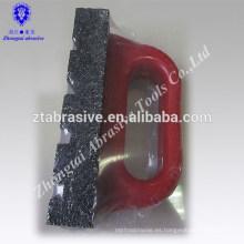 piedra de aceite de pulido de carburo de silicio negro / piedra abrasiva con mango rojo