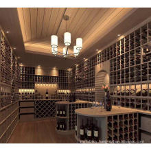 Factory Design customer customization modern wood and iron display stand and wine cellar