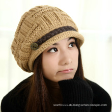 Lady Fashion Acryl Gestrickte Winter Warm Dress Cap (YKY3129)