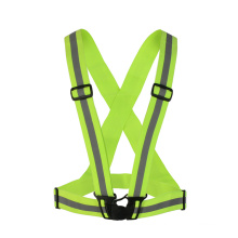 Fluo Hi Vis Elastic Adjustable Reflective Belt Running Bicycle Safety Vest With Buckle belt vest