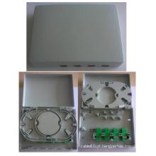 4 portas FTTH mini caixa de conexão de fibra óptica / caixa FTTH