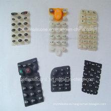 Botón de caucho de silicona de pantalla de seda elastomérica