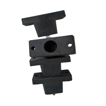 Air conditioner rubber mounting