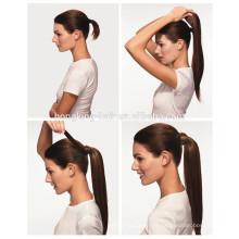 Nouveaux produits vierge cheveux humains bande magique queue de cheval extension de cheveux pour le revendeur