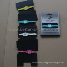 Moda elastómero de energía RFID Smart Goma Silicona Wristband