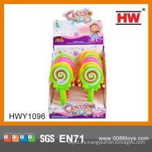 Los más populares de plástico a mano Drum Candy Toy Mini juguete de plástico para los niños