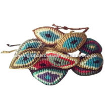 Colorful woven bracelets with eye images
