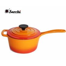 Amazon caliente esmalte de hierro fundido Sauce Pan