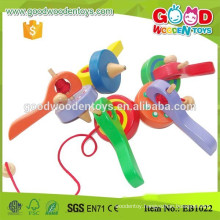 Hardwood Material Kindergarten Kids Spinning Toy