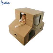 Top-Qualität besten Preis benutzerdefinierte Karton Katze Hund Spiel Haus, Cat Paper House, Karton Papier Spielzeug Haus