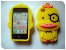 Yellow Duck 3D Silicon Animal Case For IPhone 4 / 4S
