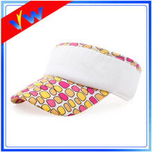 Blank Cotton Floral Children Sun Visor Cap