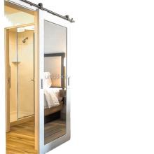 Primed White 1-Lite Frost Solid Wood Interior Barn Door Slab