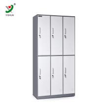 design de fábrica design fino 6 porta armário de aço para uso pessoal
