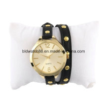 Wrap Around Ladies Fashion Leather Band Bracelet Wrist Watches