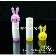 Мультфильм губы бальзам трубки кролик губная помада труба милый бальзам для губ контейнер
