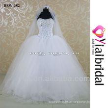 RSW382 trägerlosen Puffy Big Tüll Rock Hochzeitskleid