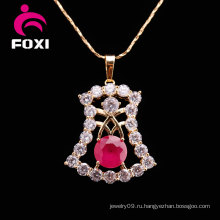 Ожерелье с цепочкой из серебра с большим кулоном
