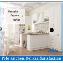 Traditionelle weiße Halbinsel Küchenschränke