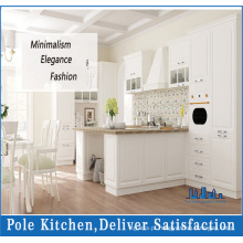 Armário de cozinha de PVC MDF de folheado de madeira (pole-14)