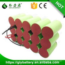 GLE custom high capacity 3000mAh 4000mah 5000mah rechargeable nicd battery 18v battery pack