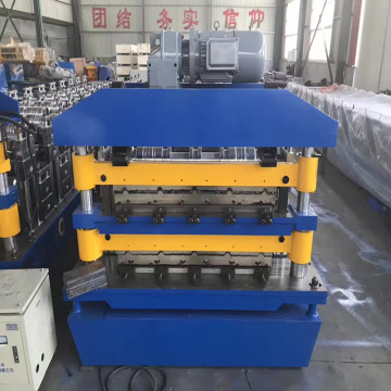 Double roof sheet metal working machine