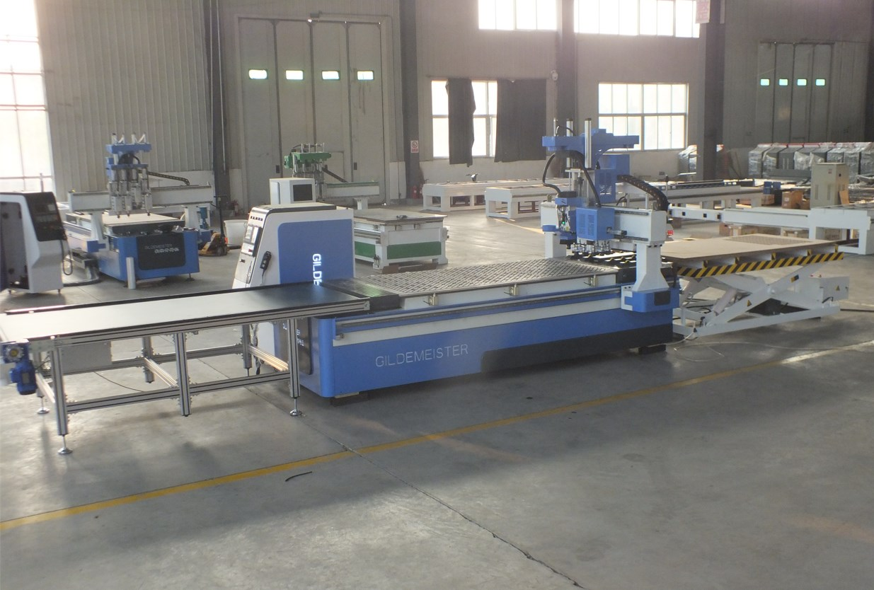 auto loading and unloading cnc router machine