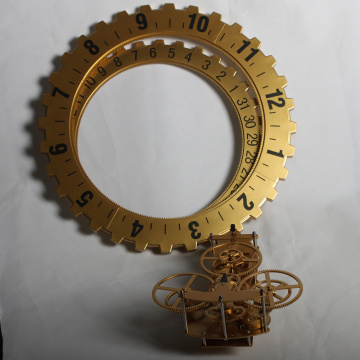 Reloj de pared Golden Big Gear para decoración